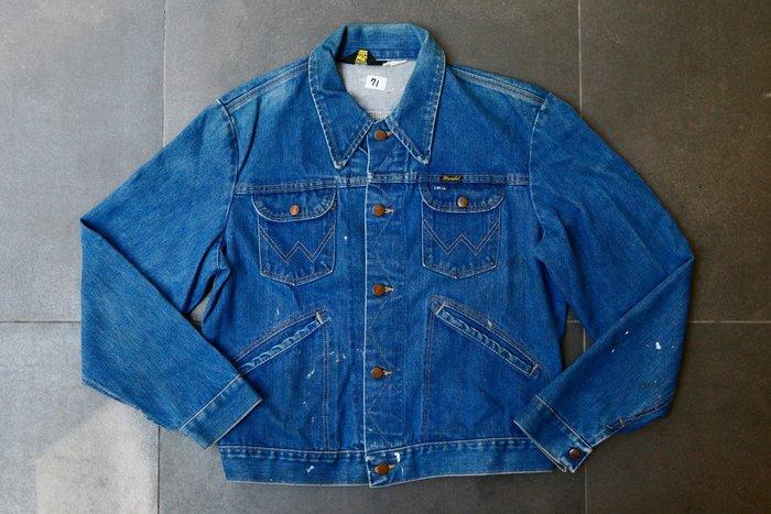 #71 VINTAGE  藍哥 Wrangler 126MJ  中藍 經典 牛外 牛仔外套 現貨 42