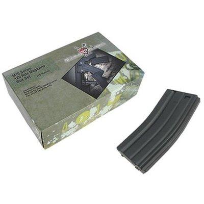 【AS】King Arms M4/M16系列 120發彈匣 十入裝 黑色-KA-MAG-23-X-BK