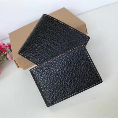 【八妹精品】COACH 87188 新款男士荔枝紋牛皮短款錢包 對折短夾 獨立證件夾