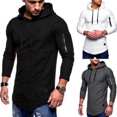 mens Hooded T Shirts long sleeve Male Hip Hop sports Hoodies 黑騎士ヶ