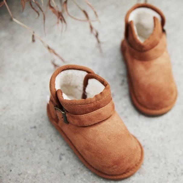 『※妳好,可愛※』韓國童鞋 Babyzzam~經典英倫側扣環雪靴 靴子 兒童靴子兒童雪靴 (4色)