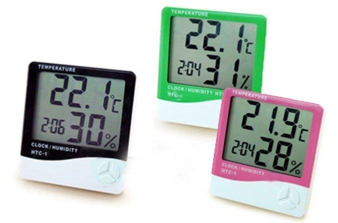 數位式 大字幕 電子 溫濕度計 溫度計 濕度計 時鐘 鬧鐘 附電池