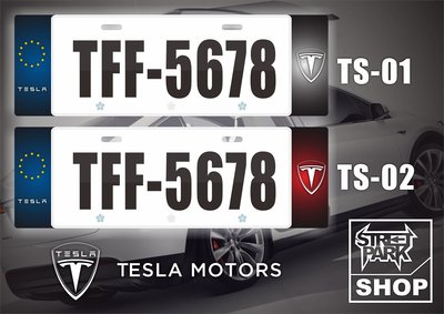 【STREET PARK】訂製 歐盟 車牌裝飾 特斯拉 Tesla Model S/X【原價780$ 特價 580$】