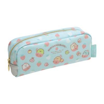 【甜甜日貨】日本正版→SAN-X角落生物 角落動物 可愛生物搭配草莓 筆袋 鉛筆盒 化妝包