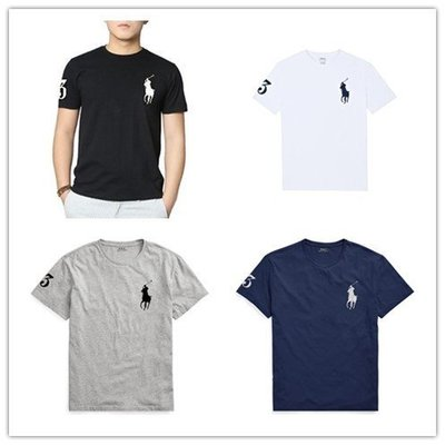 【Polo Ralph Lauren】RL 男裝大人 大馬短袖T恤 數字3 純棉素面短t 圓領短袖T恤 潮T