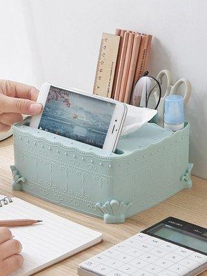 新款紙巾盒桌面歐式雕花紙巾盒 家用茶幾面紙盒餐巾紙盒 遙控器抽紙盒收納盒