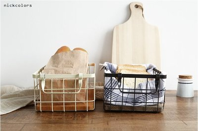 尼克卡樂斯~復古桌上型收納籃 zakka雜貨 書籍化妝品水果收納筐家居儲物筐 飾品收納盒 櫥窗擺飾