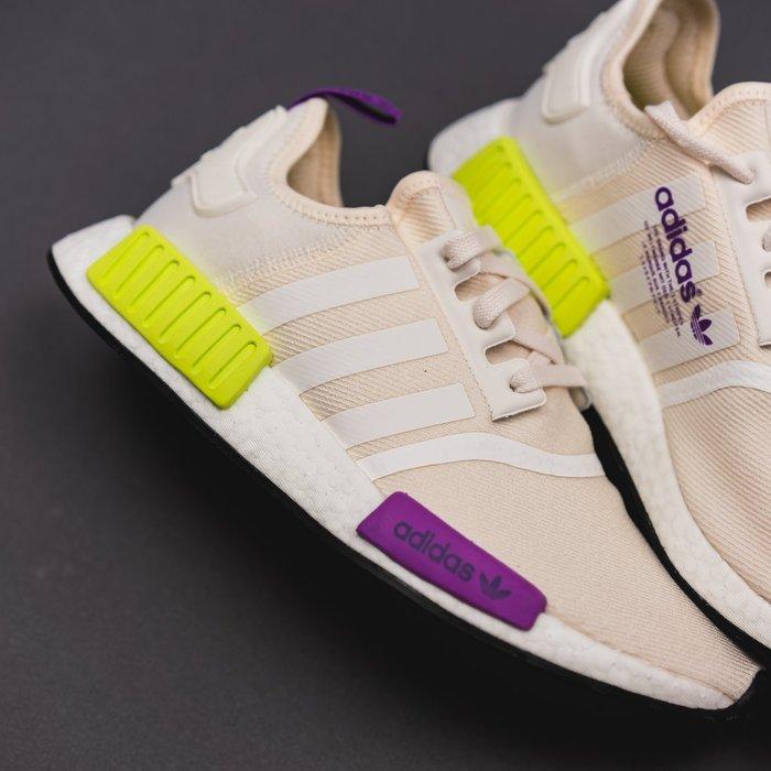 ADIDAS ORIGINAL NMD R1 米白 紫黃 慢跑鞋 男鞋 D96626