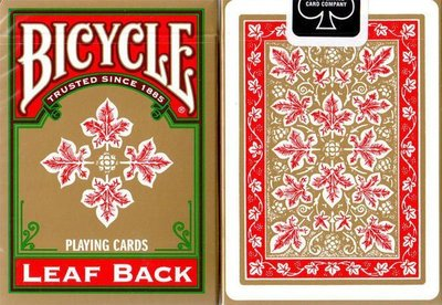 【USPCC撲克】Bicycle Leaf back playing cards gold red