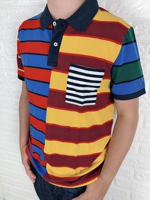 Look 鹿客 Tommy Hilfiger 男款 拼接條紋POLO衫
