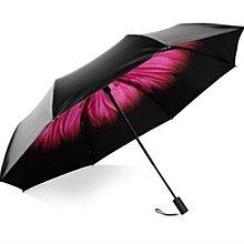雙層防曬小黑傘太陽傘女防曬防紫外線遮陽晴雨傘