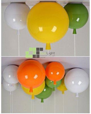 【SUN LIGHT 日光燈坊】現代北歐兒童氣球小款吸頂燈,另橢圓PH5球水晶松果海浪IQ