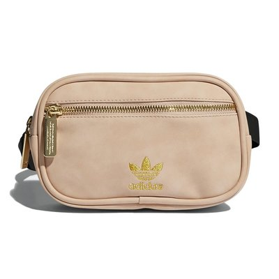 【A-KAY0】ADIDAS 女 FAUX SUEDE WAIST PACK PINK 腰包 淡粉【CL5506】