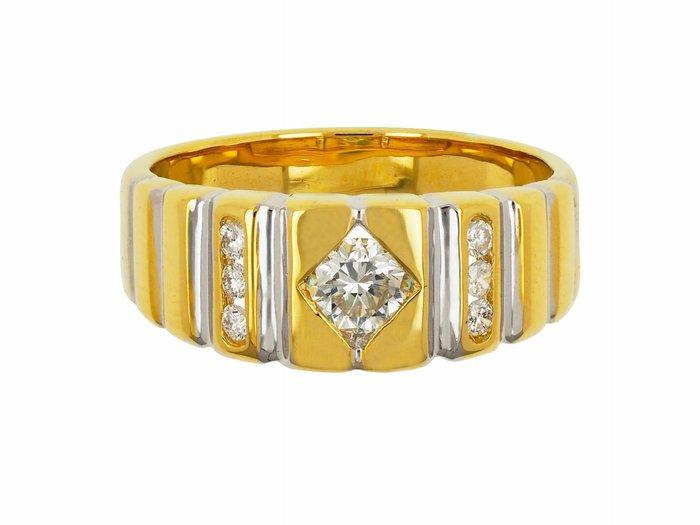 【JDPS 久大御典品 / 鑽石專賣】天然鑽石戒0.35CT 簡約線條 14K金戒檯 戒圍#15 編號B48940-1