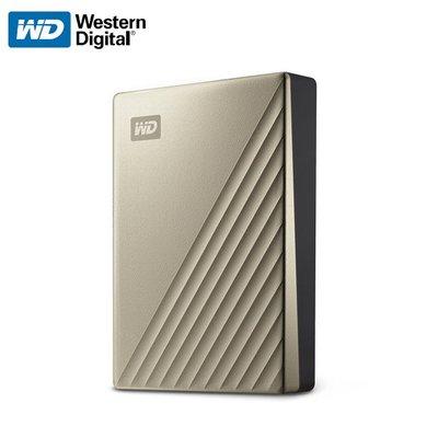 威騰 WD My Passport Ultra 2.5吋 行動硬碟 霧面金 4TB (WD-MYPTU-G-4TB)