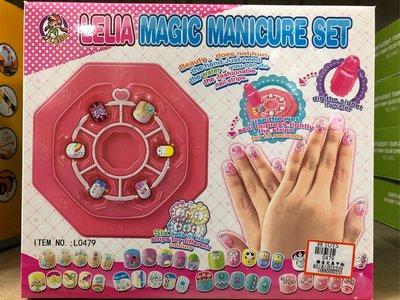 diy製作 樂吉兒 魔幻 美甲 套裝 兒童 飾品 玩具 幼兒園 女孩 生日 美甲組 彩繪 指甲彩繪