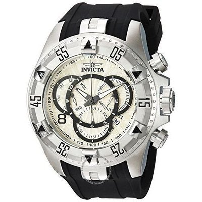 Invicta  Excursion 24270  Silicone, Stainless Steel Chronograph  Watch