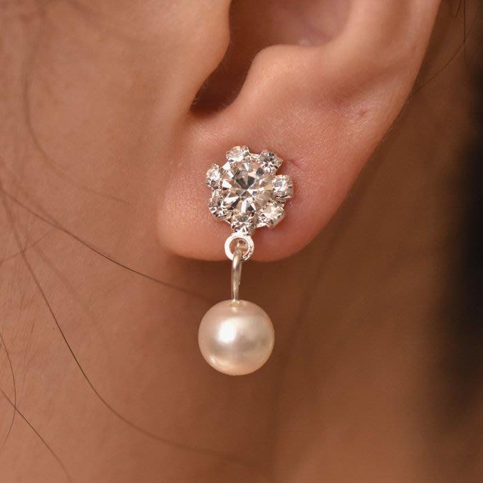新款日韓國耳夾女韓國氣質長款時尚珍珠耳夾 無耳洞耳墜