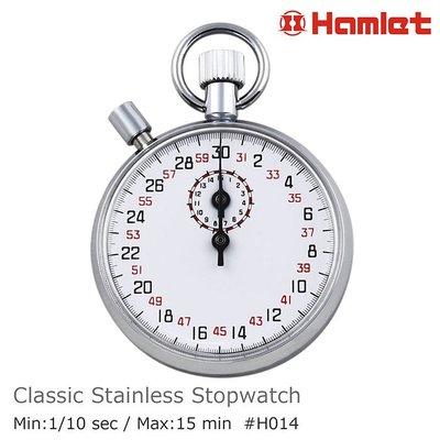 【Hamlet 哈姆雷特】不銹鋼經典機械式碼錶 30秒制 1/10秒 H014