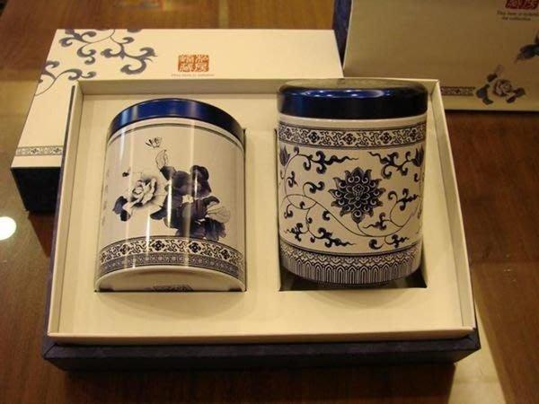 【中清】茶葉批發量販~茶葉禮盒組*頂級【貴妃高山烏龍(蜒仔)茶】私房甄藏青花鐵罐