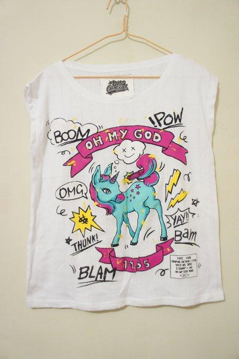 B259  - 童趣獨角獸印花裏棉衫 T-shirt