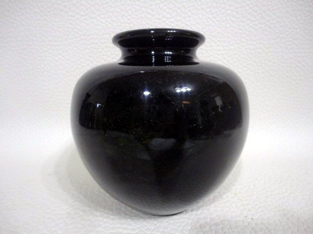 天然礦石 花東七彩玉花瓶聚寶盆系列~黑金沙聚寶盆