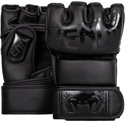 【拳運會】VENUM MMA真皮露指手套 終極鬥士 2.0版 曜石黑 UNDISPUTED 2.0 MMA GLOVES