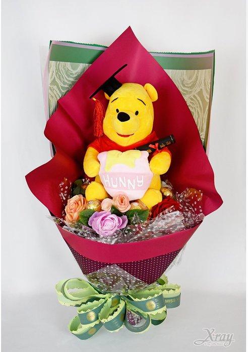 小熊維尼 捧花,Winnie the Pooh /金莎捧花/花束/畢業花束/畢業典禮/求婚,節慶王【Y577709】