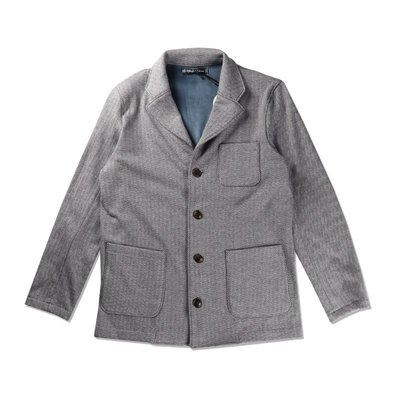 Freaky House-日本Audience BOMBER HEAT人字呢溫暖刷毛三扣柔軟毛毯觸感西裝外套灰色