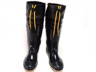 美迪-皇冠609-工作用-全長塑膠止滑雨鞋~ 台灣製-可當登山雨鞋~(增加可女用9.5碼)-加大男生13碼
