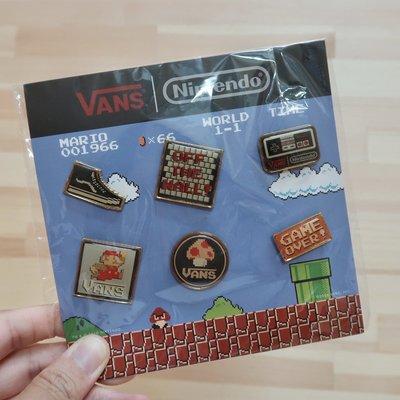 VANS x Nintendo 超級瑪莉 胸針 徽章 別針 6個一組