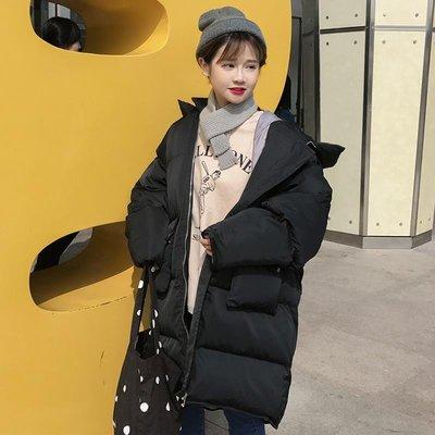[Margot]2018新款冬季女裝韓版中長款寬松面包服棉衣學生夾棉加厚棉服外套