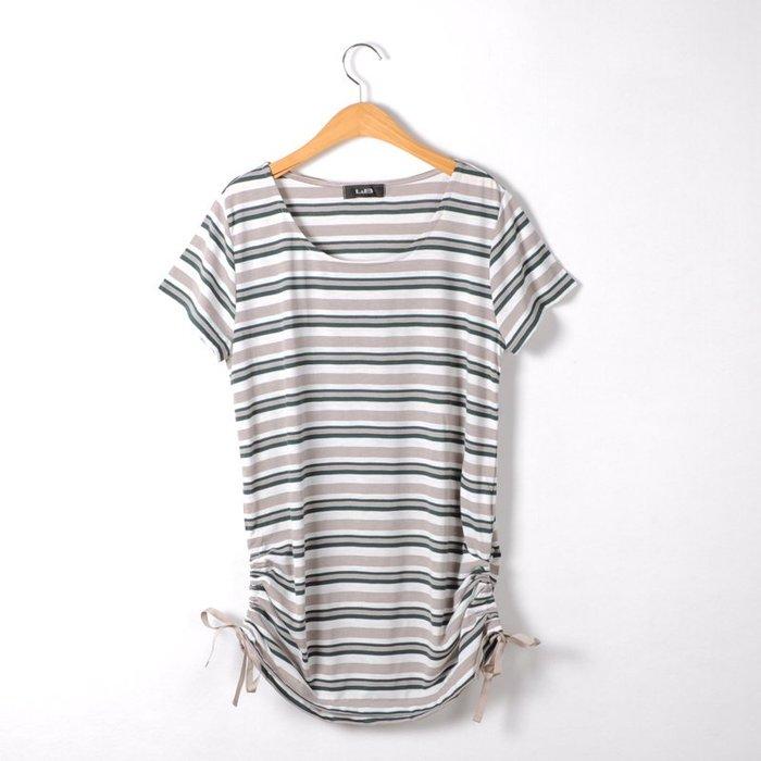 ☆UeF☆日本正品條紋休閒氣質長版棉衫(新)