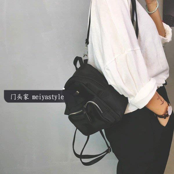 韓版 時尚 透明 百搭 超火門頭家定制迷你雙肩包英倫風學院清晰純色簡約小包背包書包小包
