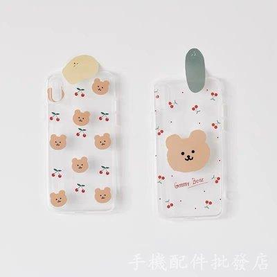 獨家Gummy櫻桃小熊��韓國iphone11 xs max 7plus 8透明防摔手機殼ig軟殼 高品質