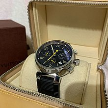 100%real Louis Vuitton 41mm Tambour Chronograph 自動機械錶 原價over$70,000