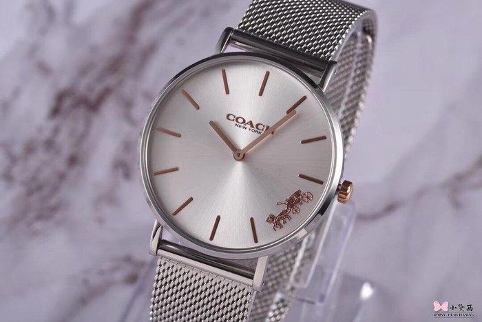 小黛西歐美代購 COACH 2019新款 經典馬車logo 鋼錶帶 時尚精品1 美國連線代購