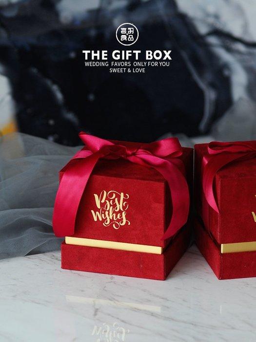 衣萊時尚-熱賣款 新款喜糖盒結婚糖果禮盒子韓版簡約創意婚禮伴娘伴手禮盒021