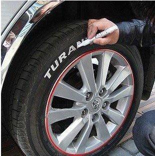 摩托改裝飾配件跑車描胎筆汽車用品車輪胎筆藍色綠色紅色白色黃色機車改裝零件