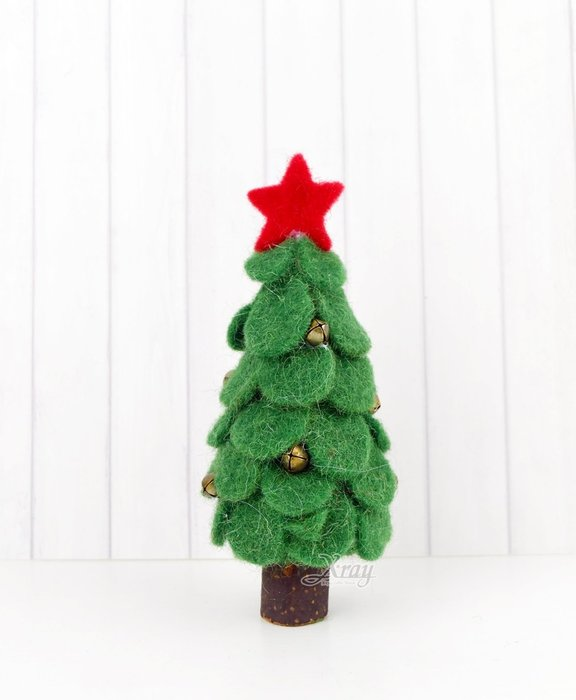 X射線【X811001】20cm毛氈片片樹-綠,聖誕節/造景佈置/櫥窗裝飾/大型擺飾/會場佈置/店面裝飾/擺飾