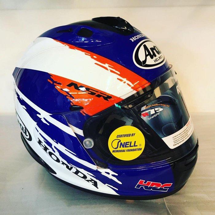 大里Arai 特約商 moto2輪館 RX7X 與HONDA NSR聯名紀念帽