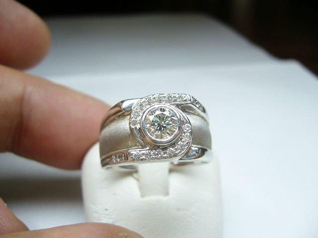 [吉宏精品交流中心]50分 南非天然鑽石 白K金 造型 戒指(男戒)