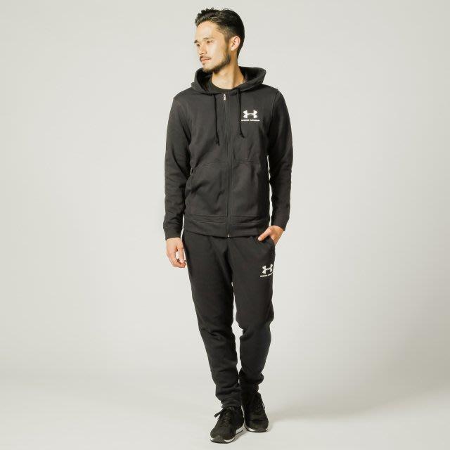 [麥修斯] UA Sportstyle 連帽外套 棉質 毛巾布 LOGO 舒適 黑白 男款 1345776-001