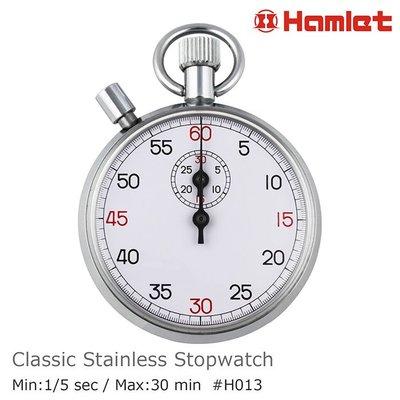 【Hamlet 哈姆雷特】不銹鋼經典機械式碼錶 60秒制 1/5秒 H013