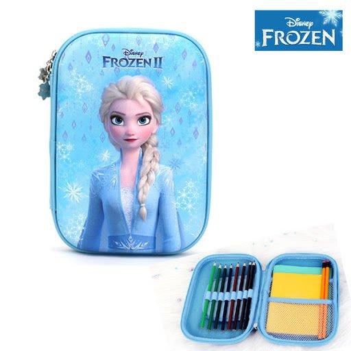 ♀高麗妹♀韓國 Disney FROZEN II 冰雪奇緣2 掀蓋式文具筆袋/化妝品拉鍊收納包(2款選)預購