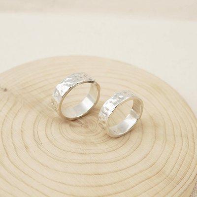 [ Cami Handicraft ]漫步月球中性寬版情人戒 - 純銀款 (商品價格為一對的價錢)客製手作定情禮物