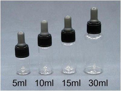 ~佳樺滴瓶2舖~MIT透明玻璃滴瓶玻璃瓶 酒精瓶 精油空瓶分裝 香水 滴瓶 滴管5ml~30ml