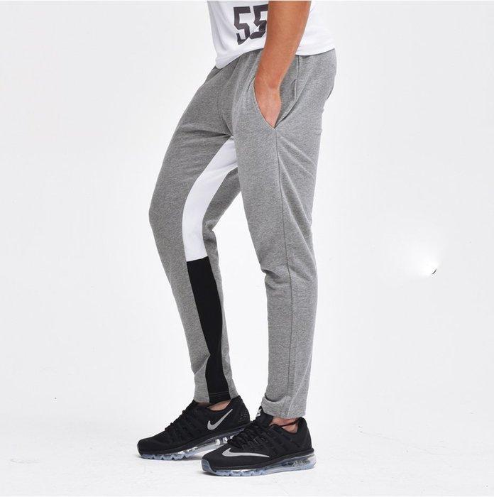 【OTOKO Men's Boutique】固制:複合面料修身九分運動褲/灰色(台灣獨家代理)