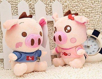25秒錄音豬情侶豬一對毛絨玩具公仔娃娃送男女生創意禮物豬公仔抱枕豬玩偶