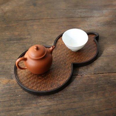 5C精選@葫蘆幹泡台 席面重竹幹泡台 小茶盤茶托 壺承壺托 便攜式茶具